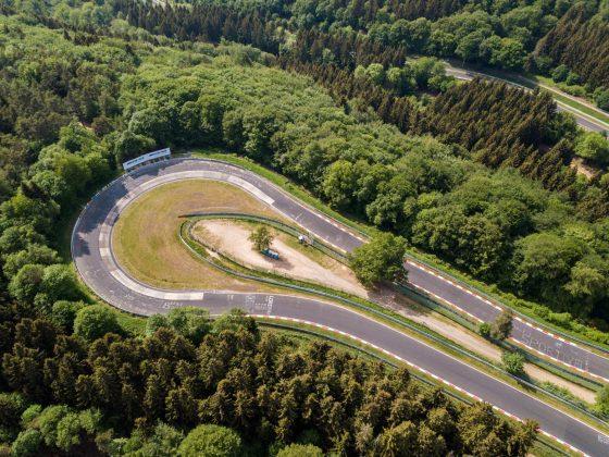 Nurburgring Nordschleife. Vista dall'alto