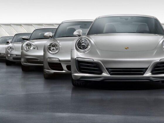 Sette generazioni di Porsche 911