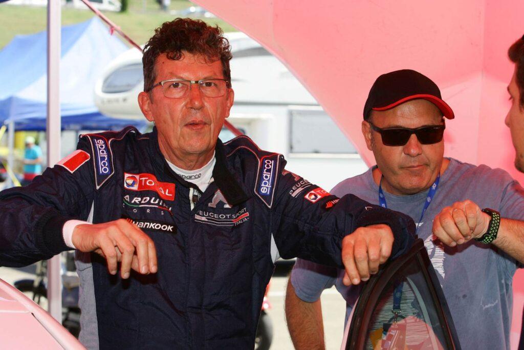 Arduini-Sabbatini (Arduini Corse,PeugeoT 308 MI16-TCT#103) ritratti all'ultima gara di Campionato TCR al Mugello.