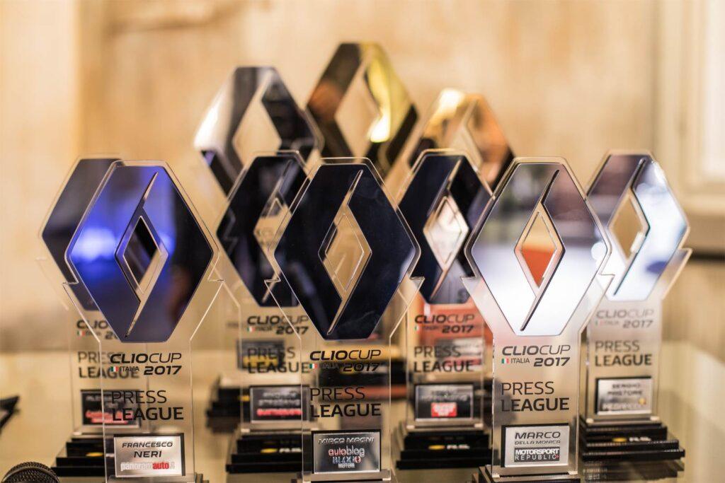 Renault Clio Cup Press League 2017. Le premiazioni
