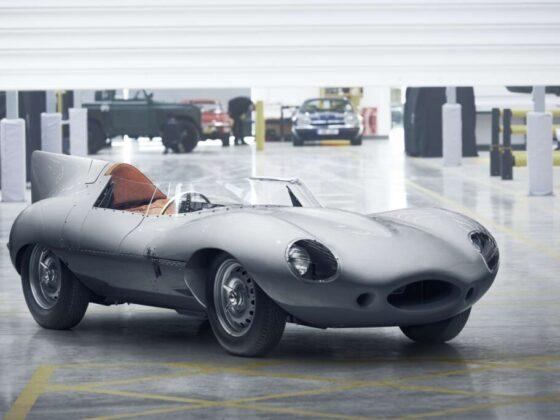 Immagine della Jaguar D Type realizzata conforme all'originale