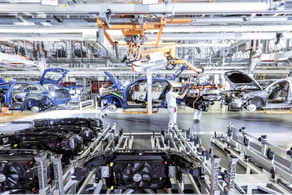 Una visita ad Ingolstadt. In questa immagine la linea di produzione della Audi Q2