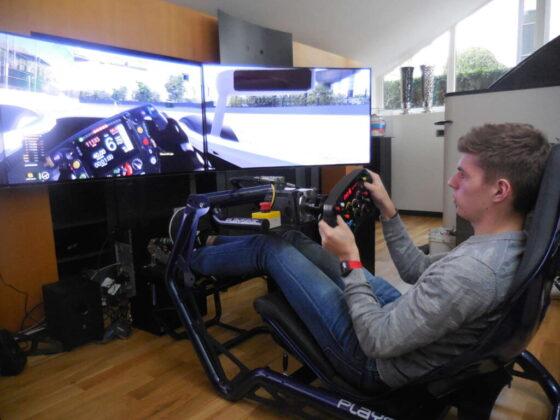 max Verstappen sul simulatore