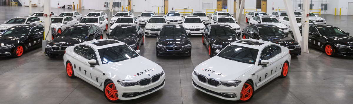 Aptive, Lyft & BMW immagine delle auto a guida autonoma che girano a Las Vegas