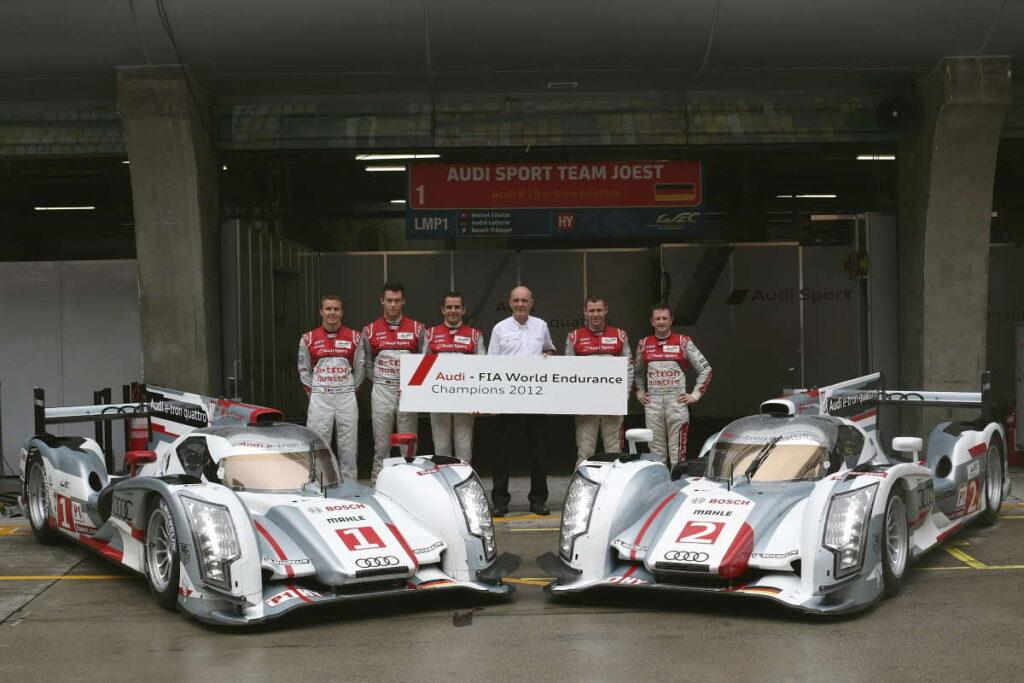 L'Audi R18 e-tron campione del mondo Fia Endurance