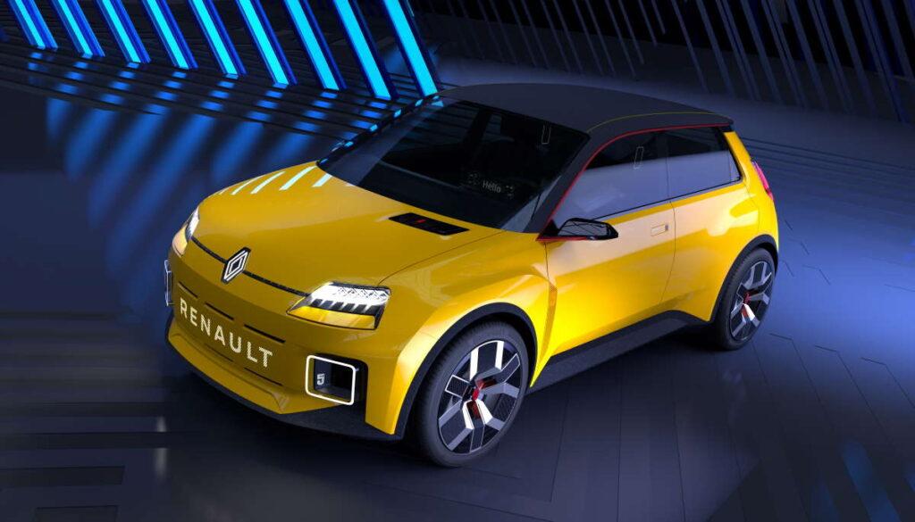 Renault 5 Prototype. Una vista anteriore a tre quarti