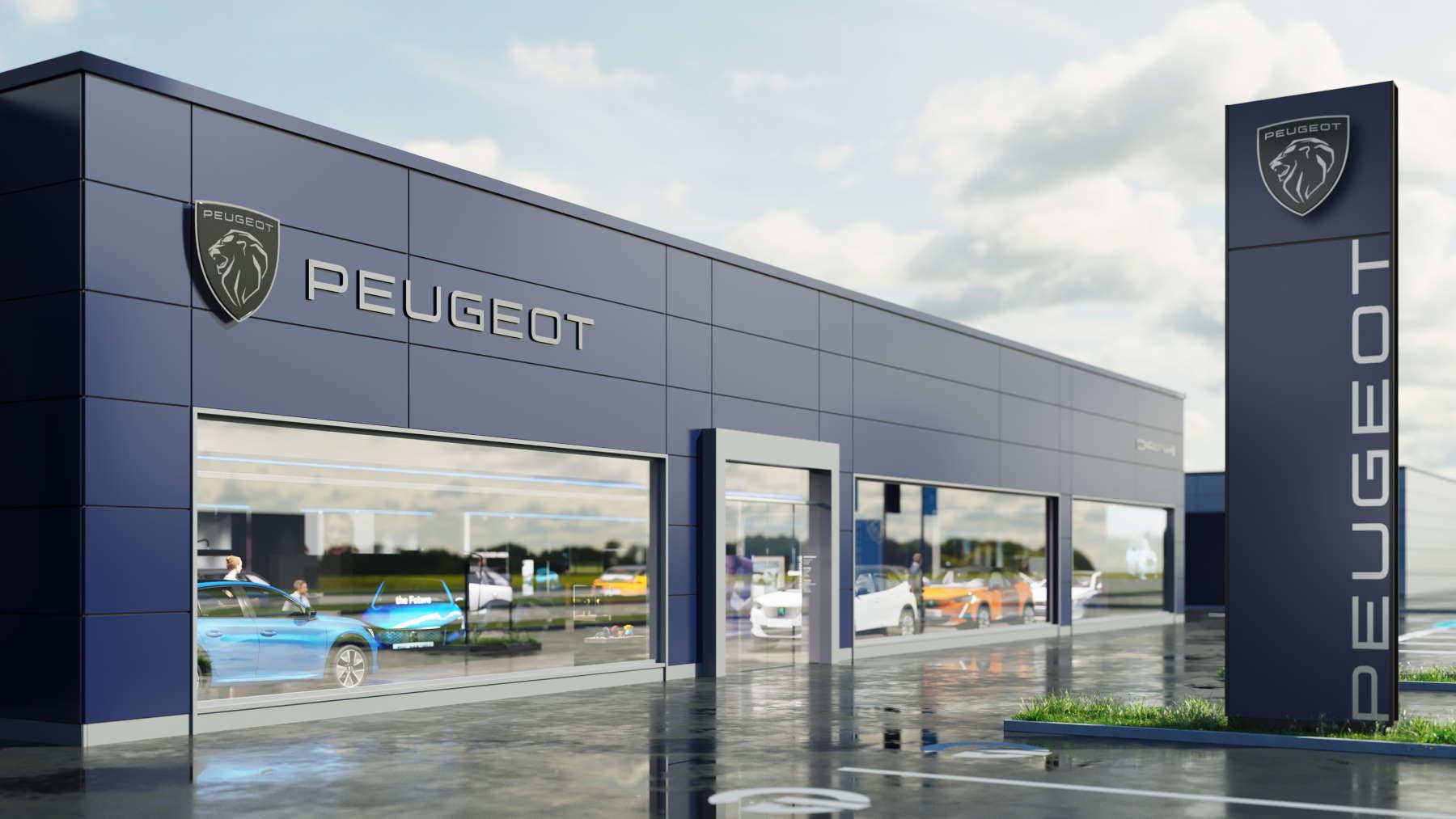 immagine delle nuove concessionarie di Peugeot con il nuovo luogo