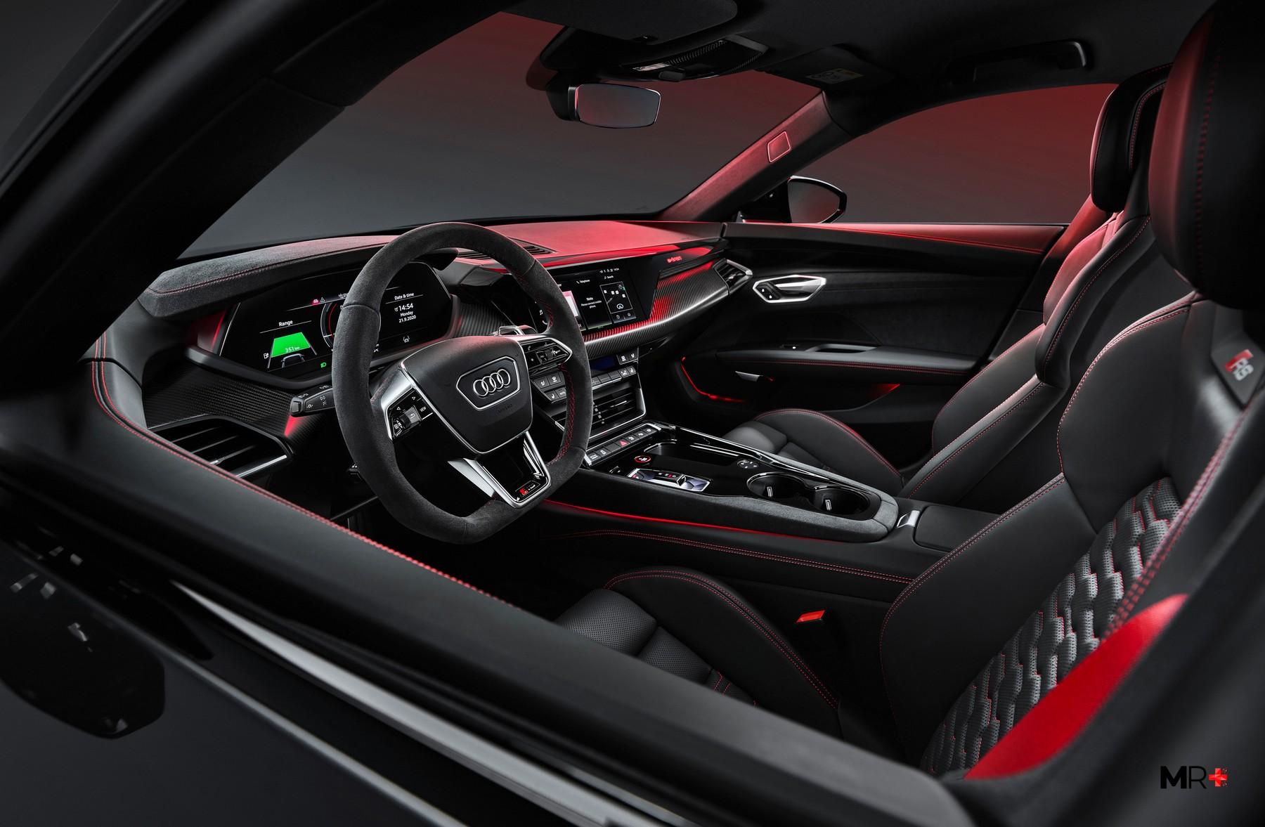Gli interni della Audi e-tron GT