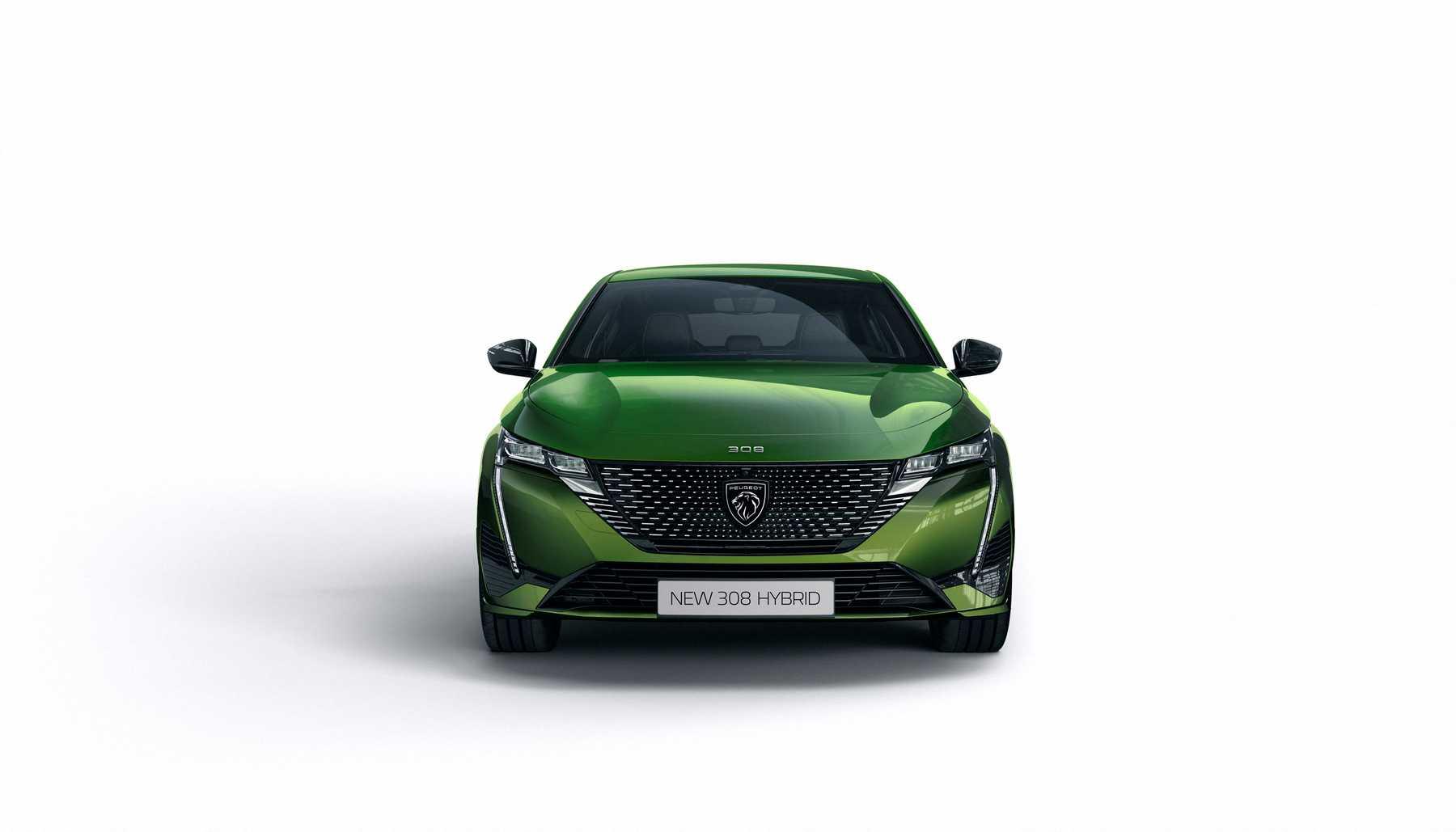 Il frontale della Nuova-Peugeot-308-MY2021