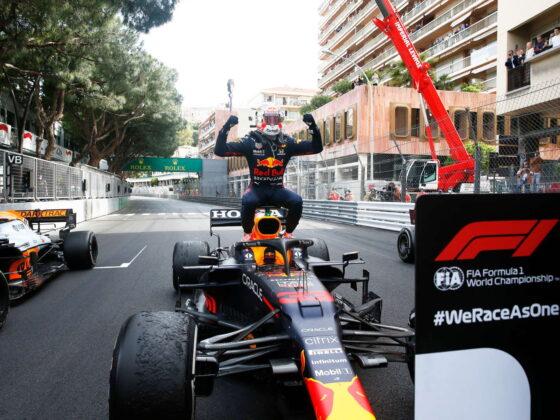 Cover Verstappen vincitore GP Montecarlo
