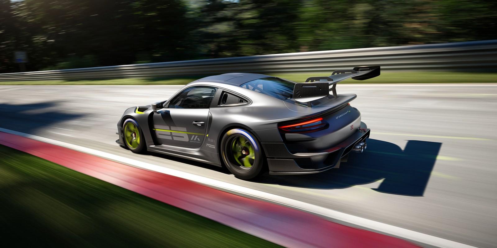Porsche 911 GT2 RS 25. Vista posteriore  tre quarti