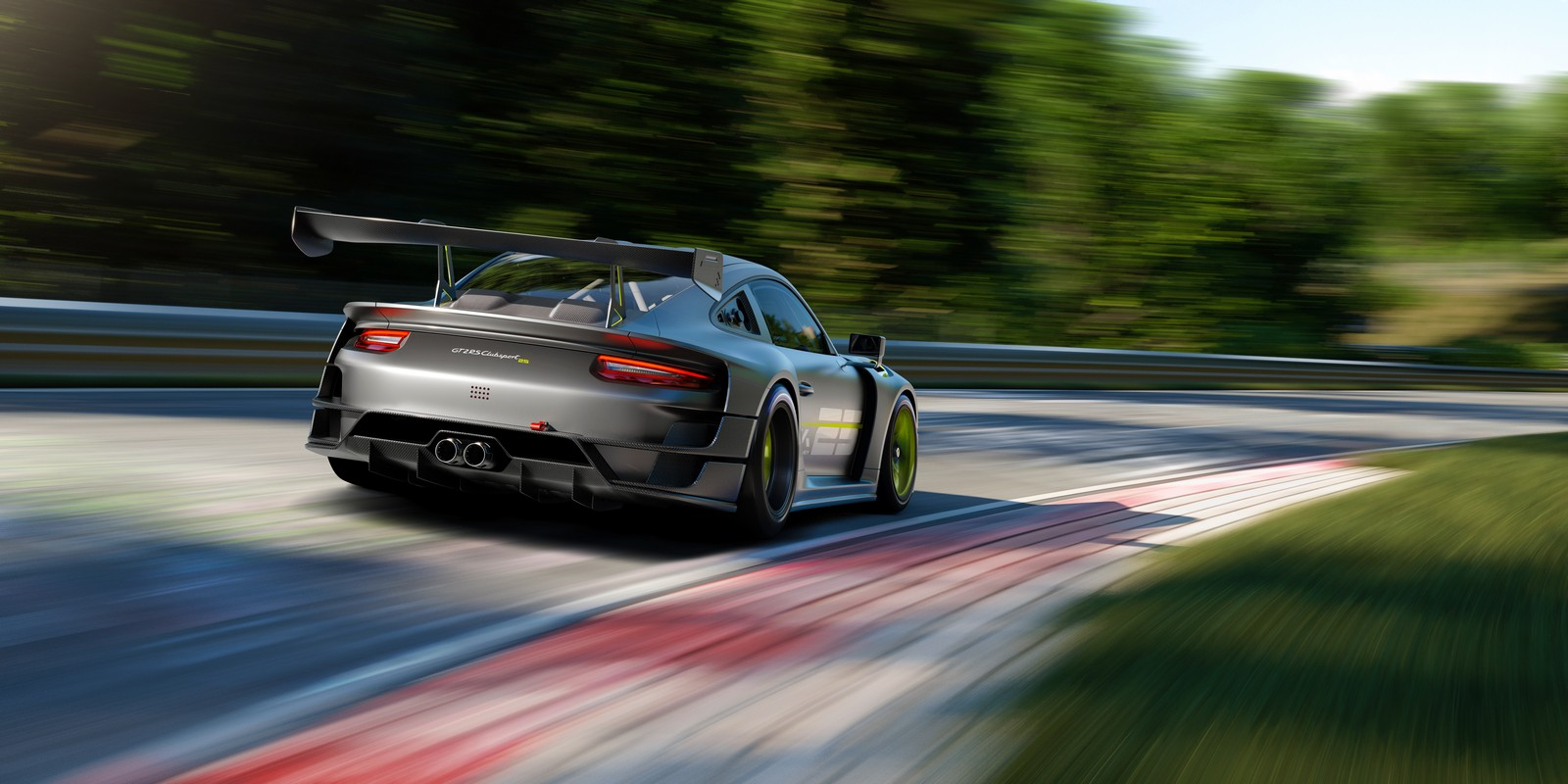 Porsche 911 GT2 RS 25. Vista posteriore