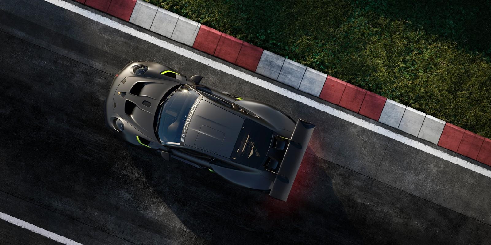 Porsche 911 GT2 RS 25. Vista dall'alto
