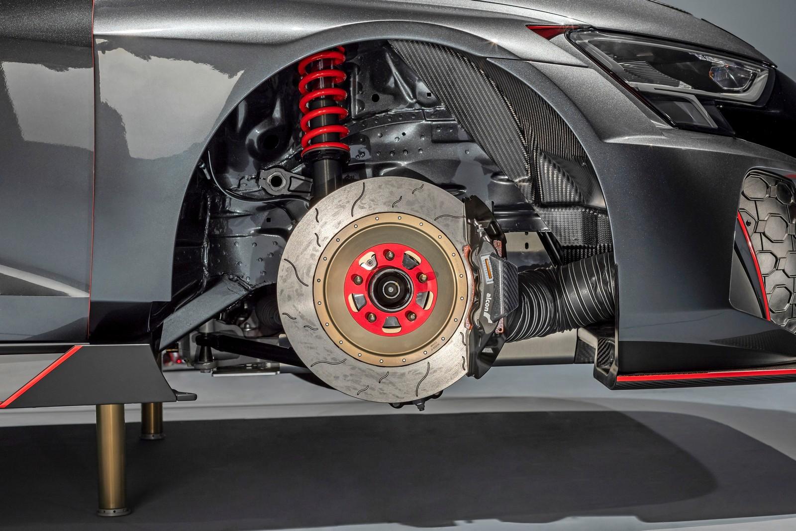 Dettaglio del freno anteriore della Audi RS3 LMS TCR