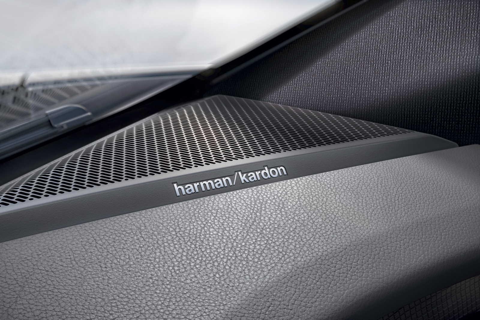 Renault Mégane E-Tech Electric. Dettaglio impianto sonoro Harman Kardon