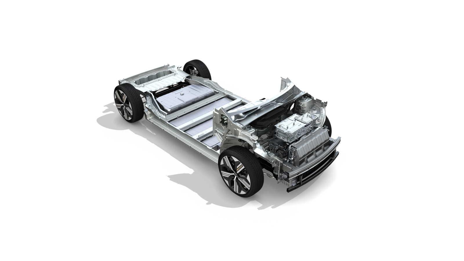 Pacco batterie integrato nel telaio della Renault Mégane E-Tech Electric